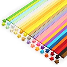 Colybecation Double Sided Origami Stars Paper - 27 Colors, 1000 Sheets