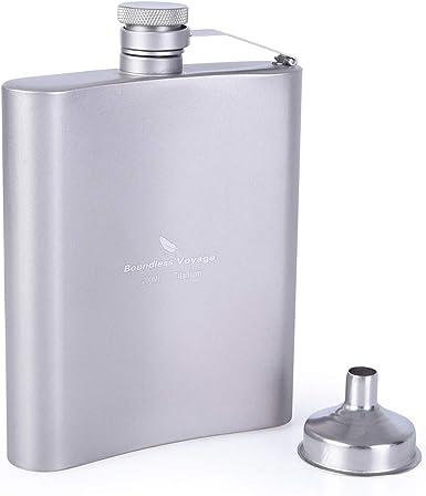 Outdoor Pocket Stainless Steel 7oz//8oz Flagon Wine Bottle Kettle Flask Mens Gift
