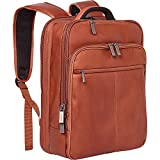 Kenneth Cole Reaction Manhattan Colombian Leather Slim 16' Laptop Checkpoint-Friendly Anti-Theft RFID Business Backpack