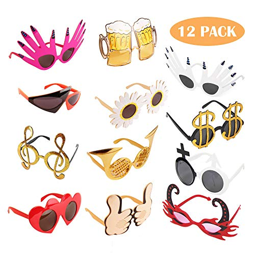 Party Accessories For Adults (TD.IVES Funny Glasses Party Sunglasses Costume Sunglasses,12 Pack Cool Shaped Funny Party)