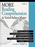 More Reading Comprehension in Varied Subject Matter, Jane Ervin, 0838806074