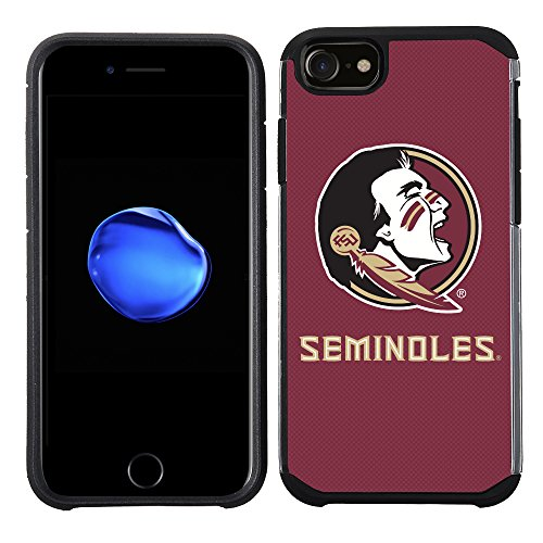 Prime Brands Group Textured Team Color Cell Phone Case for Apple iPhone 8/7/6S/6 - NCAA Licensed Florida State University Seminoles