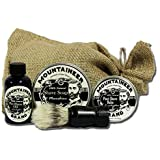 Shave Kit with Moonshine Shave Soap by Mountaineer Brand with Shave Brush and Pre-Shave Oil and Post-Shave Balm