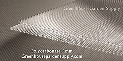 """POLICARB Polycarbonate Greenhouse Cover 4mm - Clear 24"""" x 72"""" (Pak of 10)"""