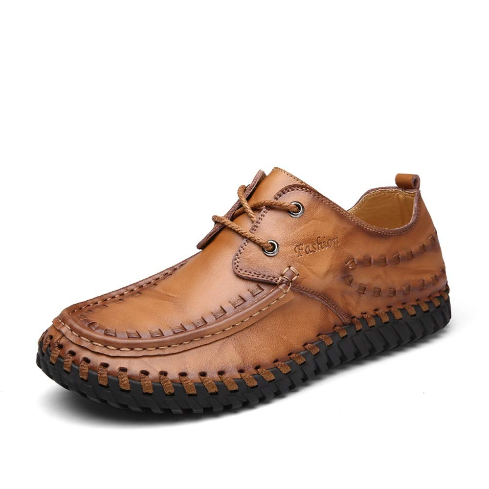 Men's Shoes Obedient Mens Casual Shoes Breathable Large Size Driving Shoes Sets Of Feet Casual Handmade Leather Shoes Men Slip-on Soft Loafers High Quality Goods