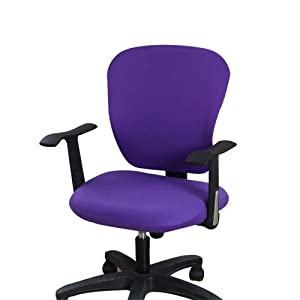 Jinzio Computer Office Chair Cover - Split Protective & Stretchable Cloth Polyester Universal Desk Task Chair Chair Covers Stretch Rotating Chair Slipcover (Universal, Style 44)