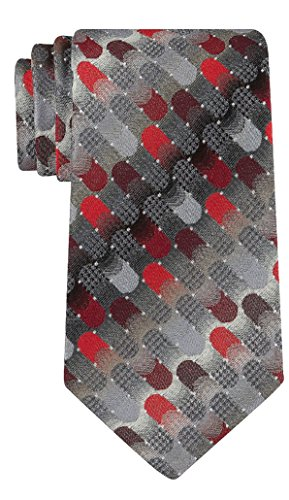 Van Heusen Men's Lucas Pattern Necktie Tie (Red) ()