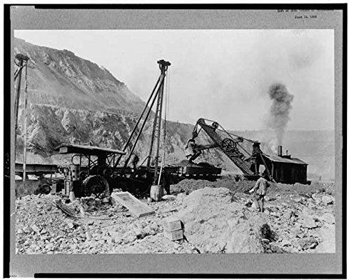 Photo  Heavy Machinery In Action Steam Shovel Copper Mining Santa Rita New Mexico C1925