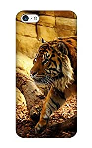 Flyingangela Durable Defender Case For Iphone 5c Tpu Cover(Animal Tiger) Best Gift Choice