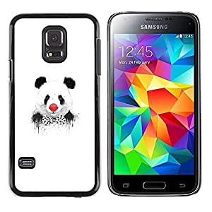 Be Good Phone Accessory // Dura Cáscara cubierta Protectora Caso Carcasa Funda de Protección para Samsung Galaxy S5 Mini, SM-G800, NOT S5 REGULAR! // Funny Panda Clown Graphiti