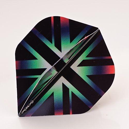All Black R4X Dart Flights 3 per set