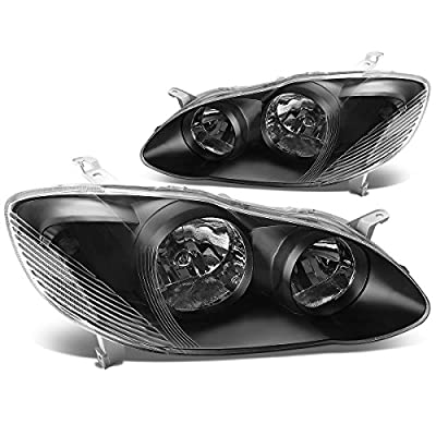 DNA Motoring Black clear HL-OH-TCO02-BK-CL1 Headlight Assembly (Driver & Passenger Side): Automotive