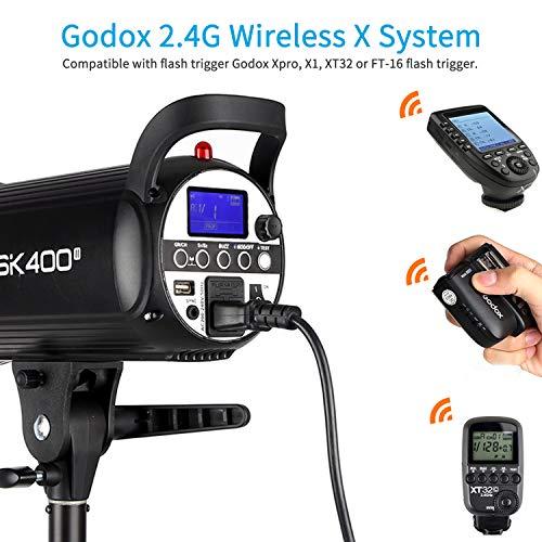 Godox SK400II Studio Strobe 400W, 2.4G Wireless X System GN65 5600K Monolight with Bowens Mount 150W Modeling Lamp, Outstanding Output Stability, Anti-Preflash by Godox (Image #1)