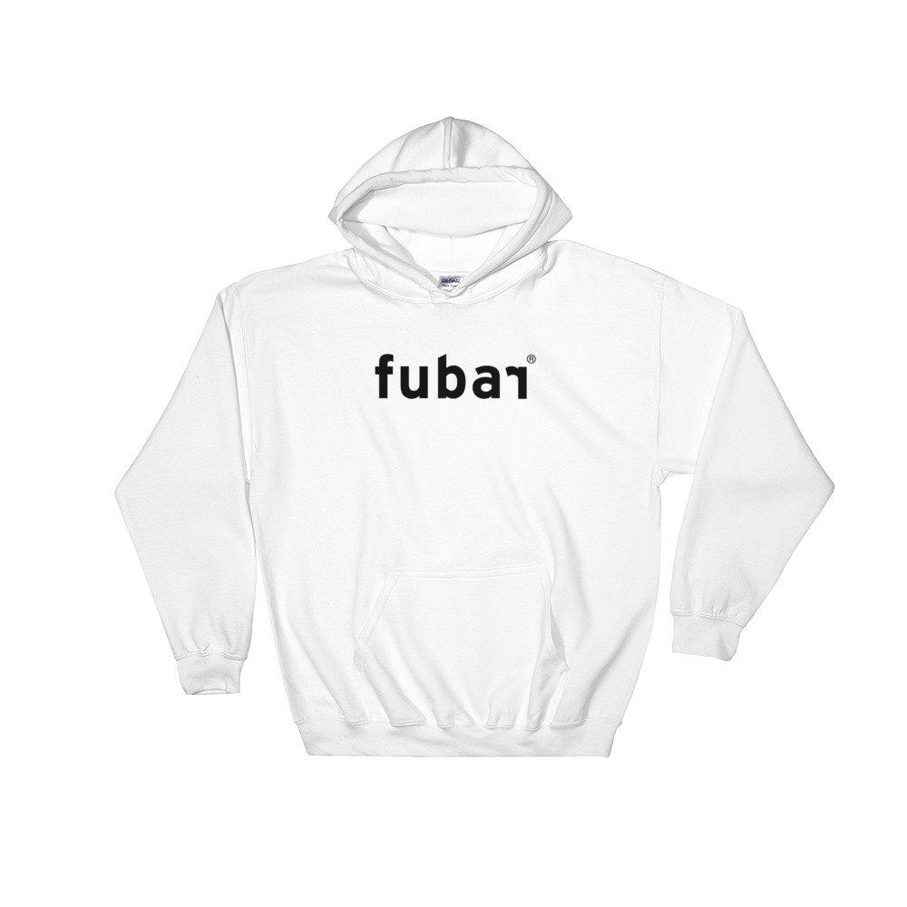 Fubar Ignorant Adolescent Logo Hooded Sweatshirt White .
