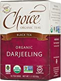 Choice Organic Darjeeling Tea, 16-Count Box (Pack of 6)