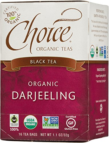 Choice Organic Teas Black Tea, 16 Tea Bags, - Darjeeling Tea Afternoon