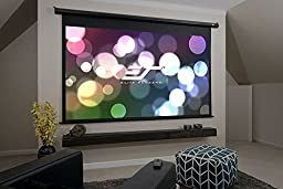 Elite Screens Spectrum, 120-inch 4:3, 4K Home Theater Electric Motorized Drop Down Projection Projector Screen, ELECTRIC120V