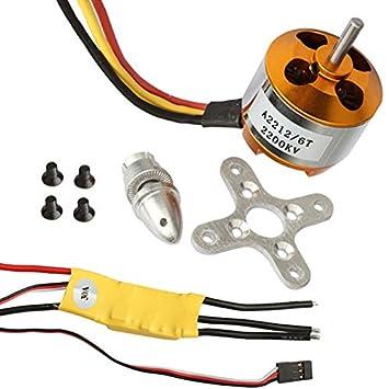 Amazon com : A2212/6T 2200KV XXD Brushless Motor+30A ESC+