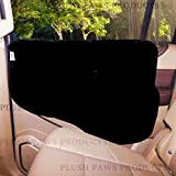 Plush Paws Pet Car Door Cover - Waterproof Machine Washable - Flexible Plastic Tabs or Velcro Attach - For Cars - Trucks and SUV's - Black