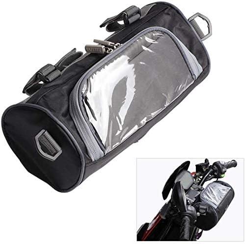 バイク用バック フロント 収納バッグ 大容量 撥水 ショルダーストラップ付き バイク用シートバッグ 着装簡単 小物入れ