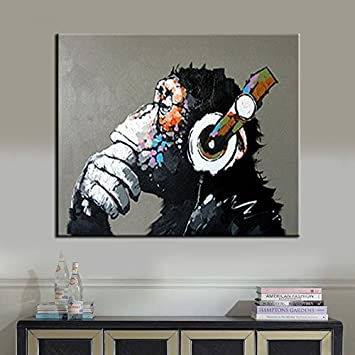 Amazon.com: BPAGO Animal painting abstract modern wall art for ...