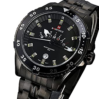 acafab92781 Buy NAVIFORCE Full steel Watch Men Quartz Military Waterproof Watch Mens  Watches Top Brand Luxury Casual Watches relogio masculino Online at Low  Prices in ...