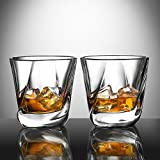 Ecooe Old Fashion Whiskey Scotch Glasses Tumblers for Scotch, Bourbon and More 2x270ml