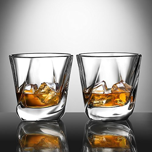 Ecooe Old Fashion Whiskey Scotch Glasses Tumblers for Scotch, Bourbon and More 2x270ml by Ecooe