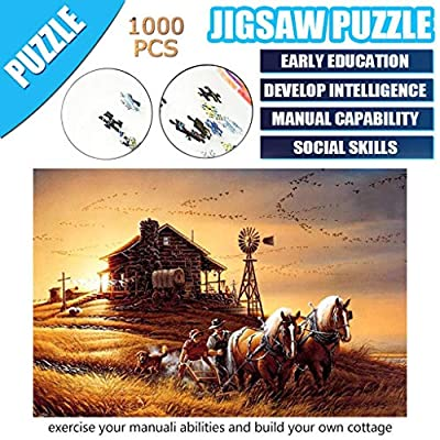 1000 Pieces Jigsaw Puzzles - Country Scenery, Adults Reduce Pressure Puzzle Game Interesting Toys Home: Toys & Games