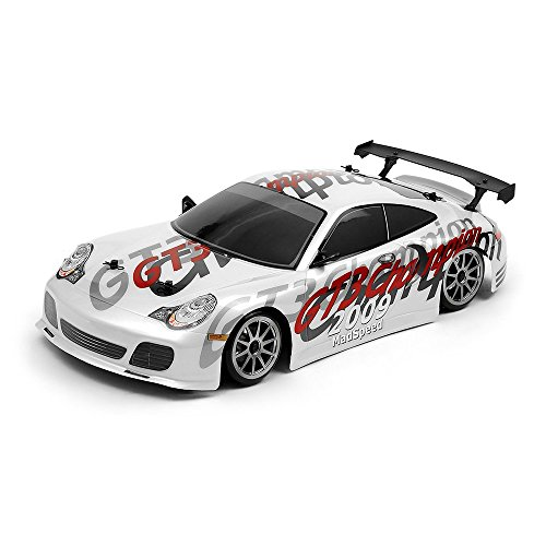 - 1/10 Scale Exceed RC MadSpeed Electric Powered Drift Car GT3 Style White 2.4Ghz