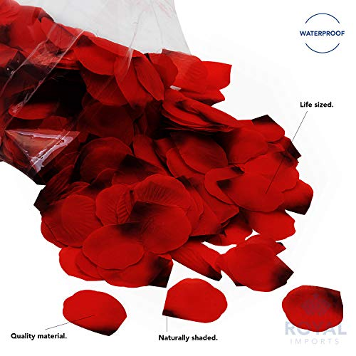 Royal Imports Red Silk Flower Artificial Rose Petals for Wedding Aisle, Party Favor & Table, Vase, Home Decoration, 1000 PCS