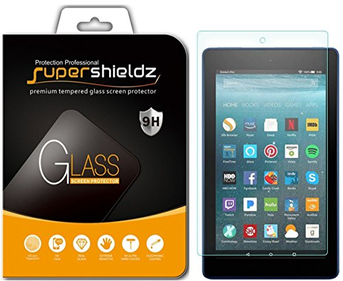 Supershieldz for All-New Fire HD 8 Tablet 8 Tempered Glass Screen Protector, (8th/7th Generation - 2018/2017 Release) Anti-Scratch, Anti-Fingerprint, Bubble Free, Lifetime Replacement