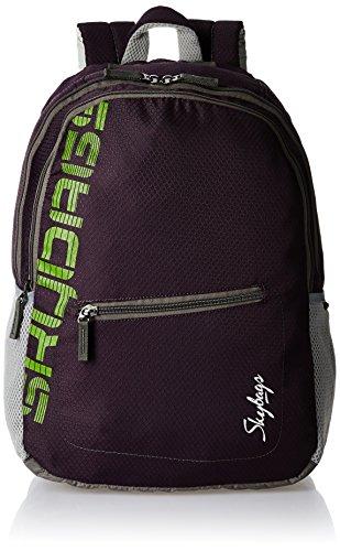 Skybags Neon Polyurethane Purple Casual Backpacks (NEON01PPL)