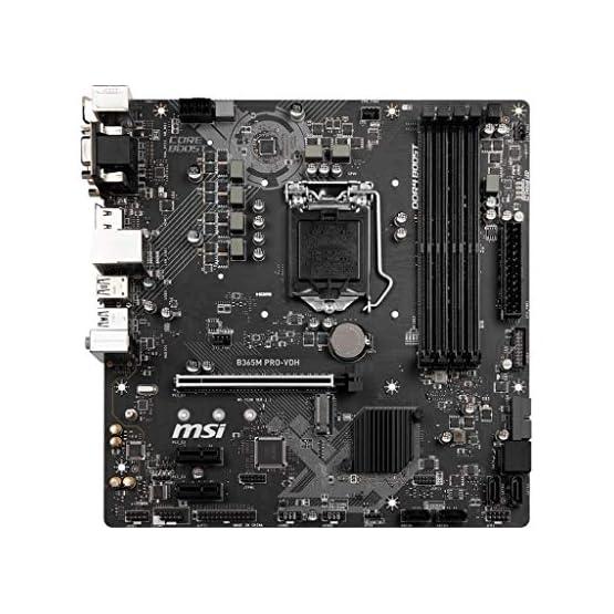 MSI ProSeries Intel B365 Lga 1151 Support 9th/8th Gen Intel Processors Gigabit LAN DDR4 USB/Dvi-D/VGA/HDMI Micro ATX… 51u FrCah9L. SS555