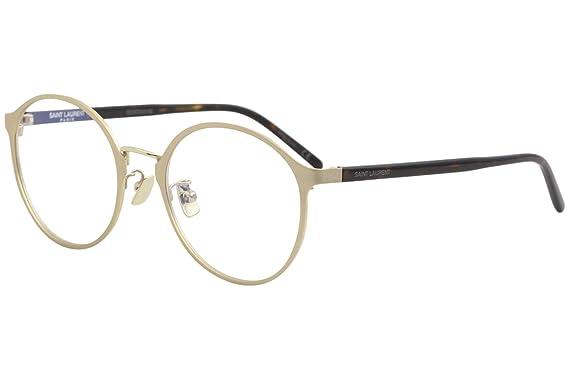 362d43bb539 Saint Laurent SL 239 F 004 Gold Round Eyeglasses at Amazon Men s ...
