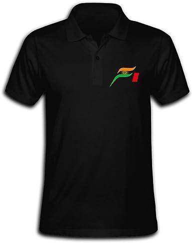 atm3haoji camisa de fuerza India F1 polo para hombre: Amazon.es: Ropa y accesorios
