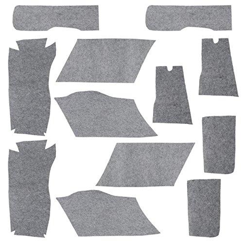 (XMT-MOTO Hard Saddle Bags Carpet Liner Set fits for All Harley Davidson Touring Softside 1994-2013(12 Pieces Carpet Liner,Gray))