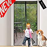 Magnetic Screen Door Mesh Curtain: Fly Insect Screen Door with Powerful Magnets