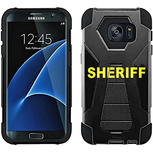 Samsung Galaxy S7 Edge Hybrid Case Sheriff on Black 2 Piece Style Silicone Case Cover with Stand for Samsung Galaxy S7 Edge Sales