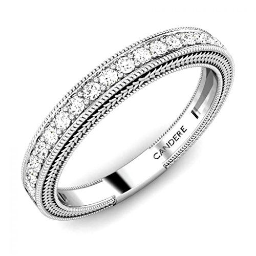 [14K White Gold 0.20 ctw Round White Diamond Full Eternity Stackable Band Ring for Her (IGI, I-J, SI1-SI2)] (Si2 Round Diamond Eternity Ring)