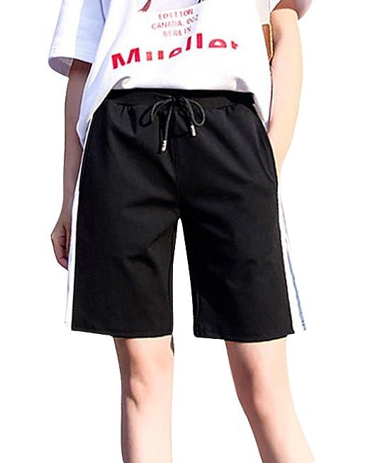 ShiFan Pantalon Corto De Deporte para Mujer Running Casual Pantalones Cortos  con Cintura Elastica  Amazon.es  Ropa y accesorios 8089edaeb79be