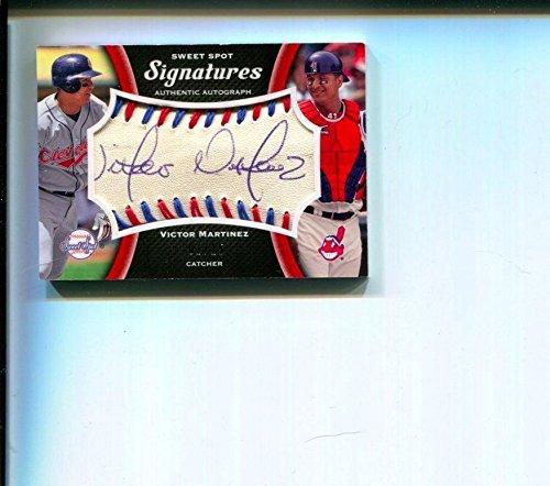 Victor Martinez Rare 2008 Sweet Spot Signatures Signed Autograph Card 01/15 - MLB Autographed Baseball (Martinez Autographed Mlb Baseball)