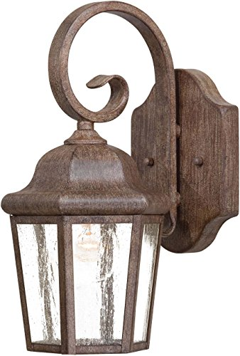 - Minka Lavery Outdoor Wall Light 8611-A61 Taylor Court Exterior Wall Lantern, 60 Watts, Rust