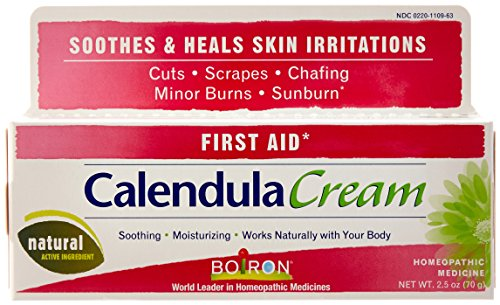 Boiron Calendula Cream, 2.5 Ounce (Horizontal Tube), Homeopathic Medicine for Skinn Irritation and Burns