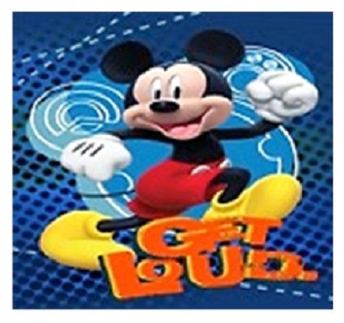 Disney Mickey Mouse, Donald Duck, Goofy, and Pluto Super Soft Plush Oversized Twin Size Blanket Get Loud slhf