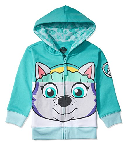Nickelodeon Toddler Paw Patrol Character Big Face Costume Zip-up Hoodies (3T, Everest)
