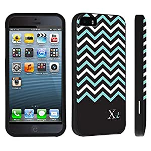 DuroCase ? Apple iPhone 5 / iPhone 5s Hard Case Black - (Black Mint White Chevron X)
