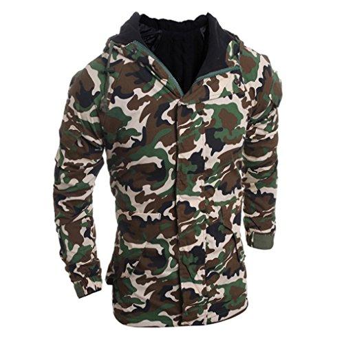 Blusa moda para Capucha Hombres Viento hombre Ropa Otoño colores Hombre varios Blusa de RETUROM abrigo Invierno Nueva Camuflaje qwRZfY