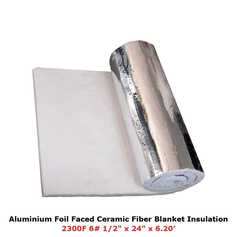 1/2 Aluminium Foil Faced Ceramic Fiber Blanket Insulation 6# 2300F 24 X 6.20' Simond Fibertech Limited