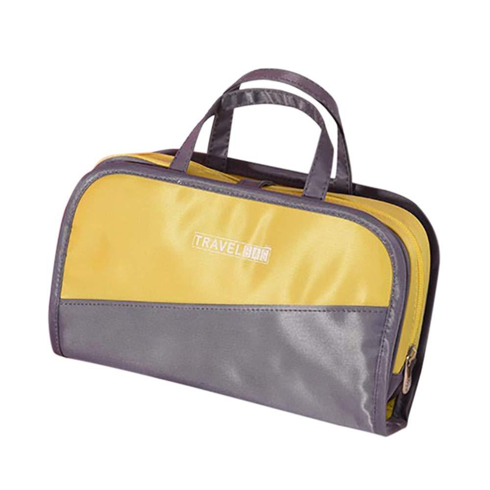 Goddessvan Makeup Storage Bag, Color Bumper Cosmetic Bag Large Capacity Travel Multi Function Two In One Bag